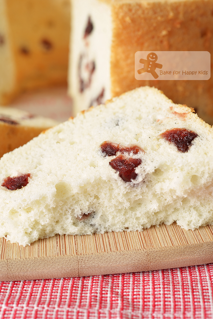 Bake For Happy Kids Ultra Soft Cranberry Egg White Chiffon Cake