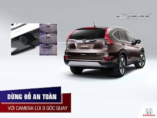 Camera lùi 3 góc quay của Honda CR-V