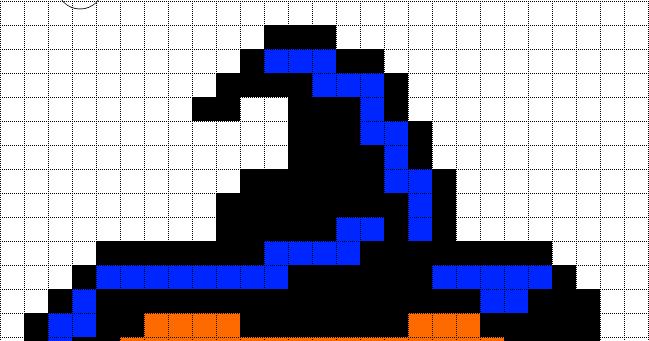 Minecraft Pixel Art Templates Halloween Pumkin