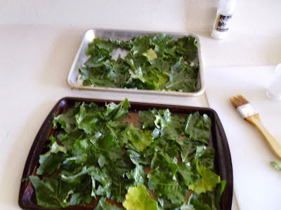 Kale Chips Oiled