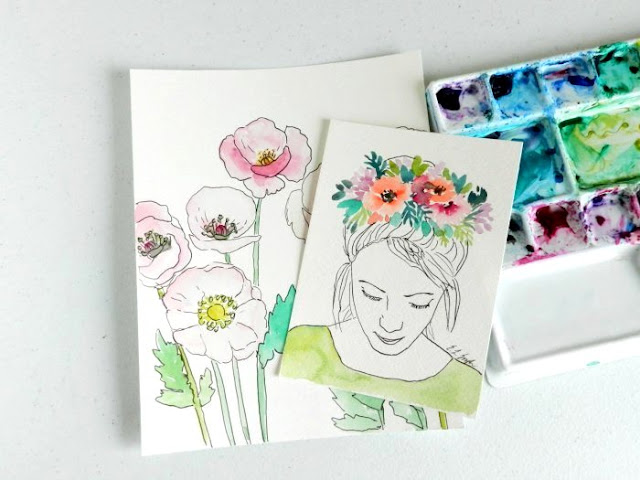 spring watercolor paintings by Elise Engh: grow creative blog