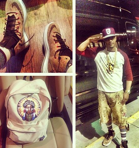 the latest 3b3d5 a3dcb T.I Rocking Nike Lebron Cork 10 Sneakers