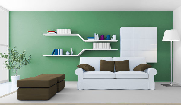 Warm Green, Media and Cold for Your Interior 3