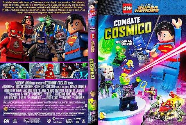 Capa DVD LEGO DC Comics Super Heroes Combate Cósmico