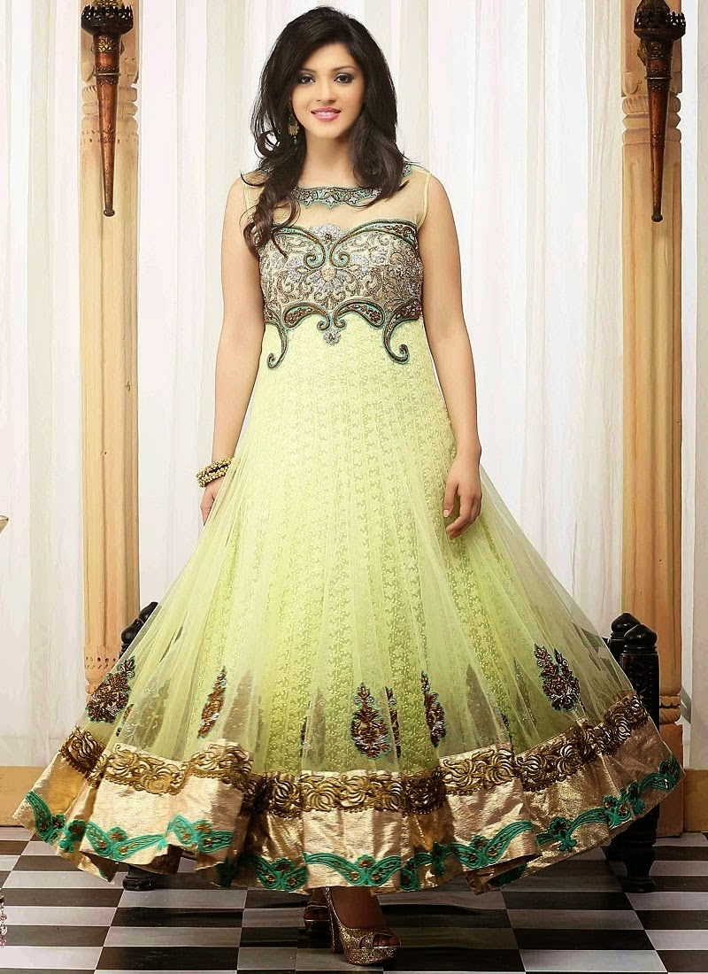 bb233556d Photos Girls2: Embroidered Evening Wear Anarkali Dresses 2014-15