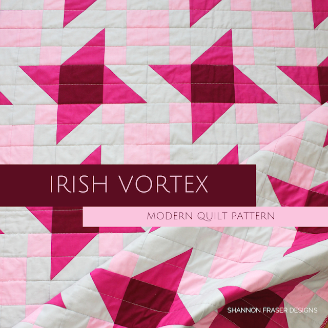 Irish Vortex Quilt Pattern | Modern Star Quilt | Shannon Fraser Designs