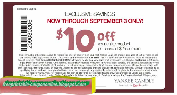 Yankee candle coupons 2018 in store