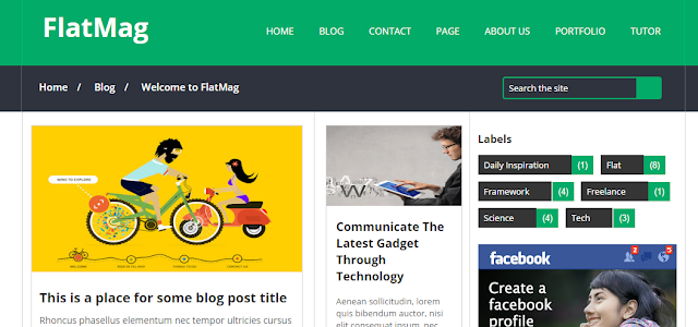Flat Mag Fast loading responsive blogger template