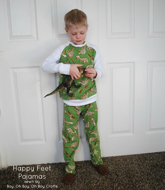 Handmade Gifts For Boys: Happy Feet Pajamas