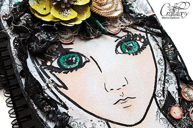 @marinasyskova #scrapbooking #artbook #cover #mixedmedia #artjournal
