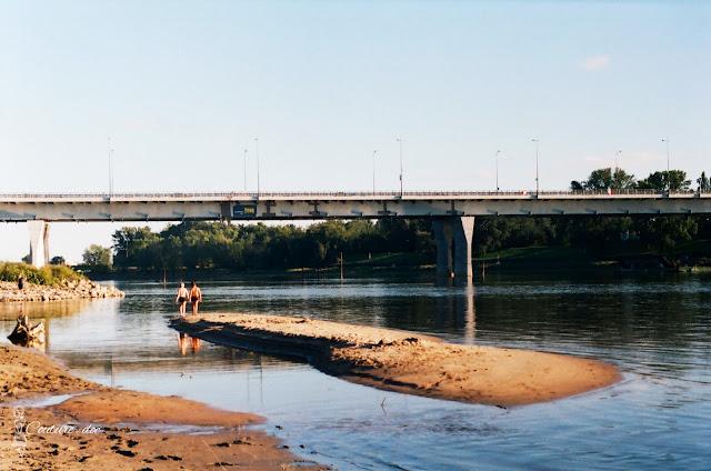 plaża saska, saska kępa, wisła, warszawa, most