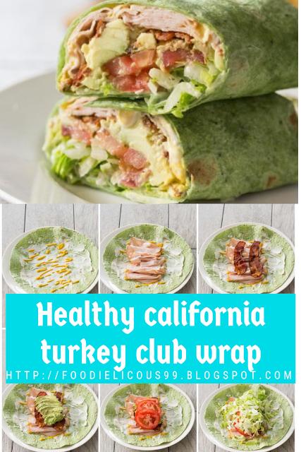 Healthy california turkey club wrap