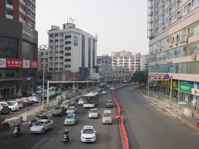 vehicles on Chezhan North Road (车站北路) in Changsha
