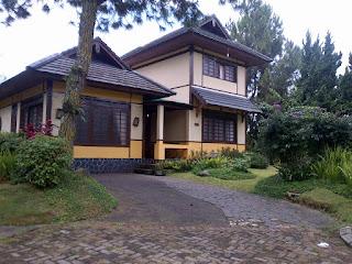 sewa villa kota bunga cipanas puncak type jepang yokohama 3 kamar