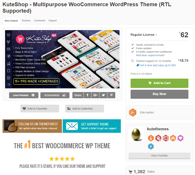 Theme Kuteshop Wordpress
