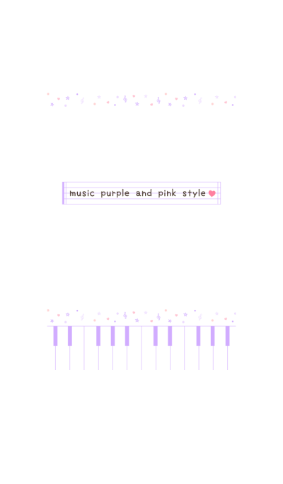 music purple and pink style