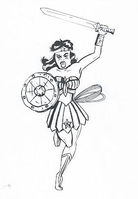 Oliver Brooks Portfolio: Wonder Woman: Warrior Princess