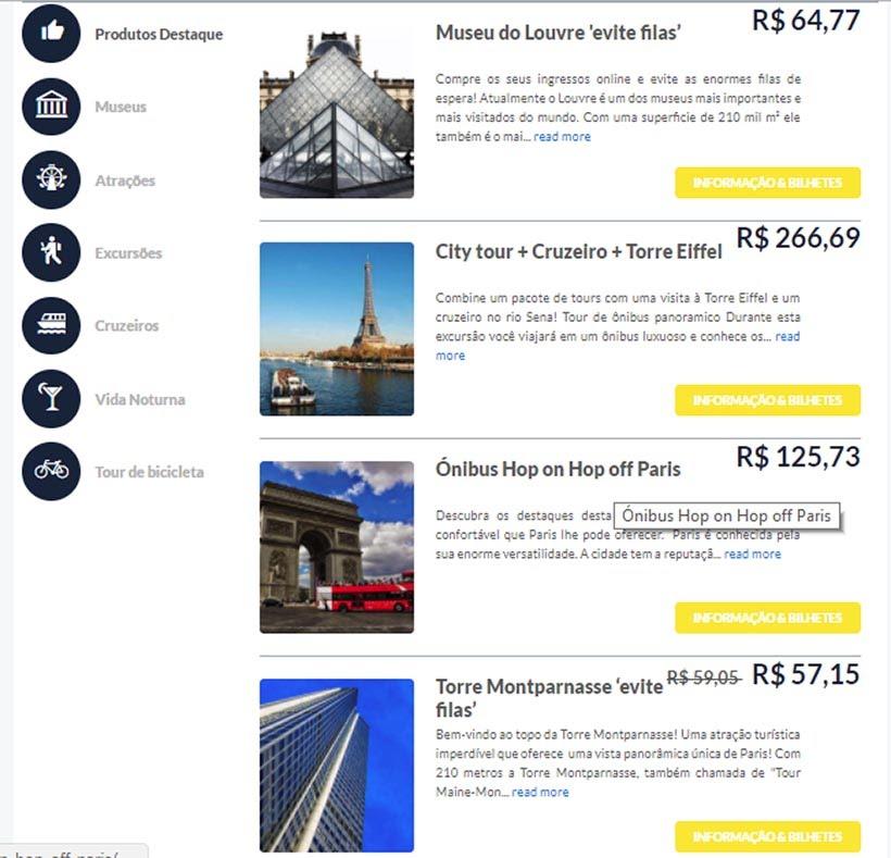 Ingressos on-line: como comprar e contratar transfer, tours e passeios - TicketBar