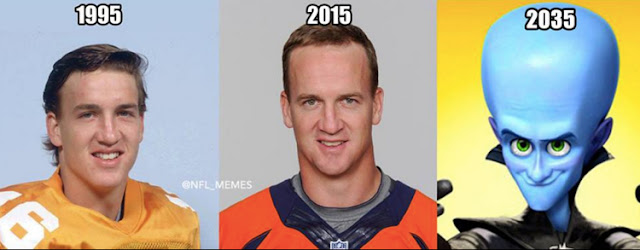 Peyton Manning's Expanding Forehead - Superbowl / Football Memes Edition! Sort of, Not Really...  ;P Plus the Friday Frivolity LINKY PARTY - the blog link-up for all things Fun, Funny, Happy, and Hopeful!