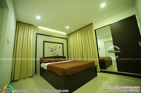 Bedroom interior finished