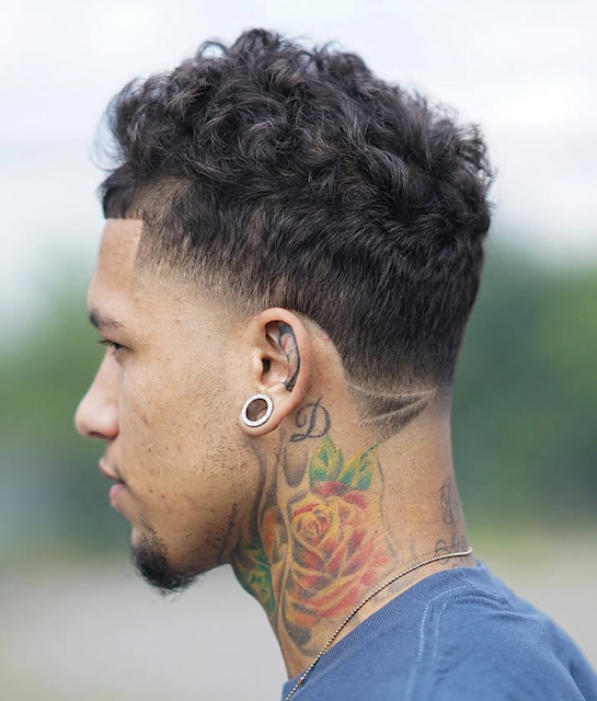 curly short haircuts for men 2019
