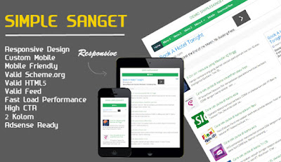 simple sanget blogger template ringan fast loading high ctr