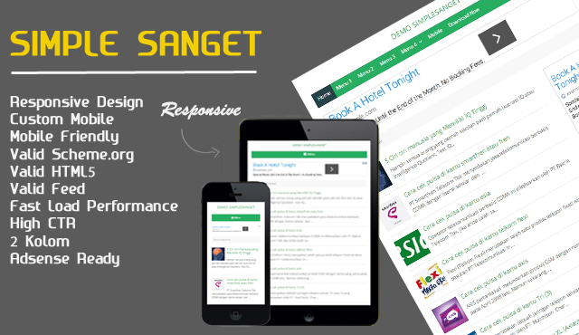 Simples Sanget ringan blogger template fast loading High CTR