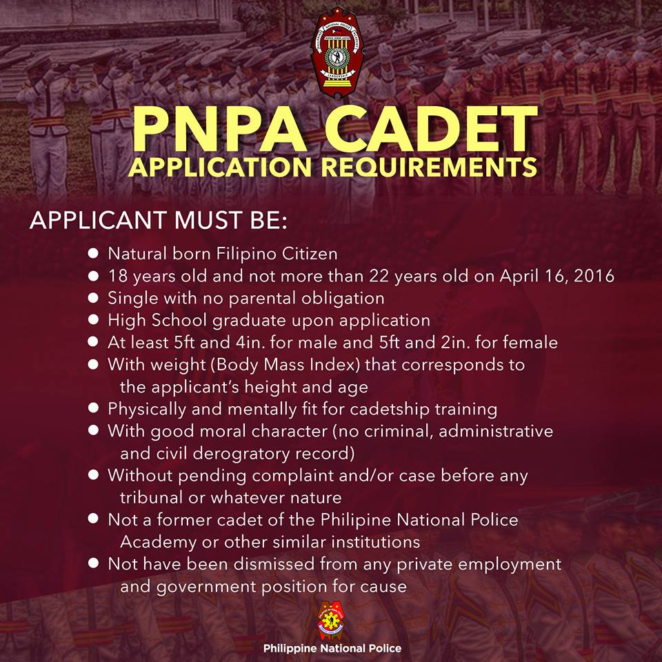 October 2015 PNPA Cadet Admission Test Schedule - Exam Ally
