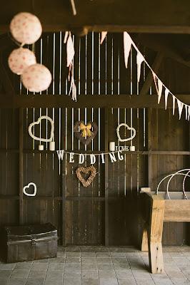 Espacio decorado para boda