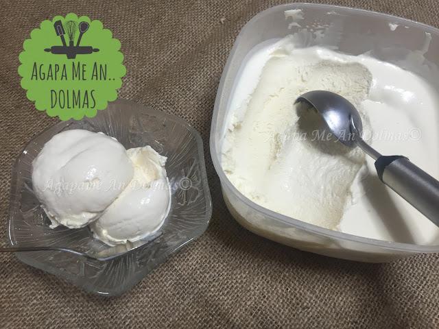 παγωτο με 3 υλικα