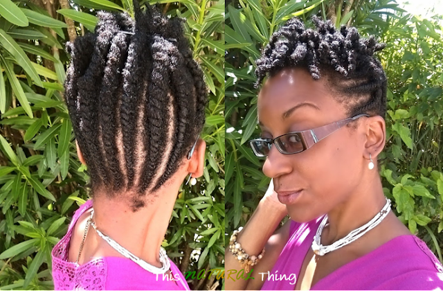 1 Year Natural - Flat Twist Styling