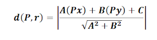 formula distancia de un punto a una recta
