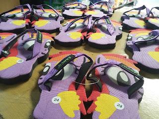 sandal ungu, sandal cantik, sandal lucu