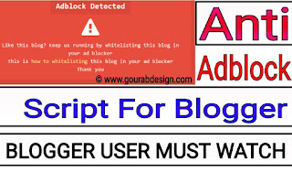 How To Install Latest Version Anti Adblock Killer Script In Blogger