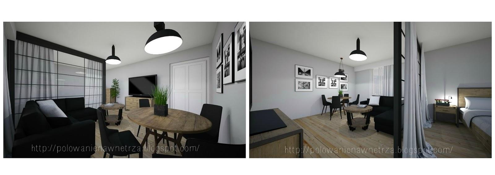 Polowanie Na Wnętrza Projekt Wizualizacja Salon Sypialnia