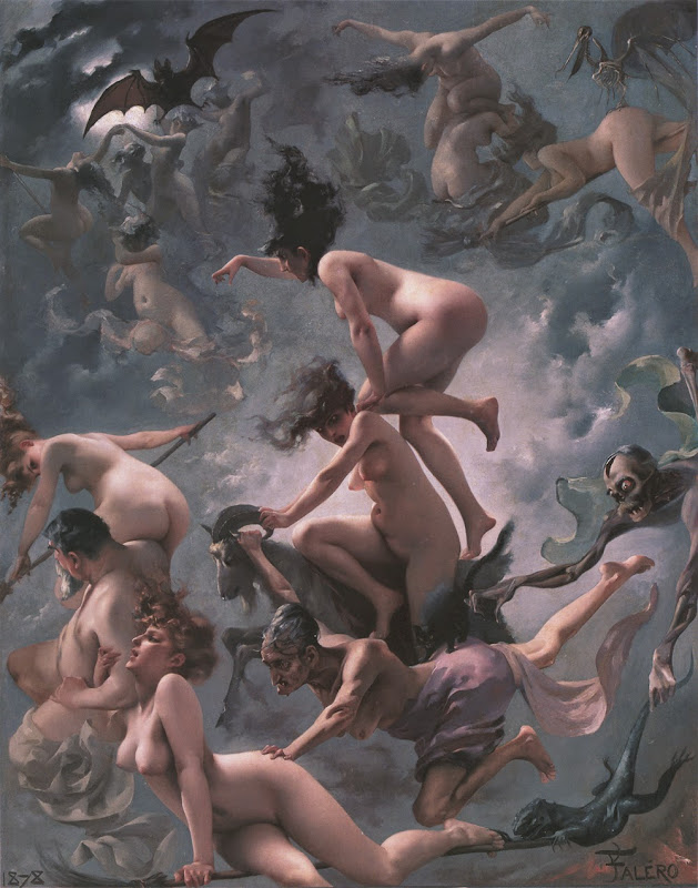 Luis Ricardo Falero, Macabre Art, Macabre Paintings, Horror Paintings, Freak Art, Freak Paintings, Horror Picture, Terror Pictures