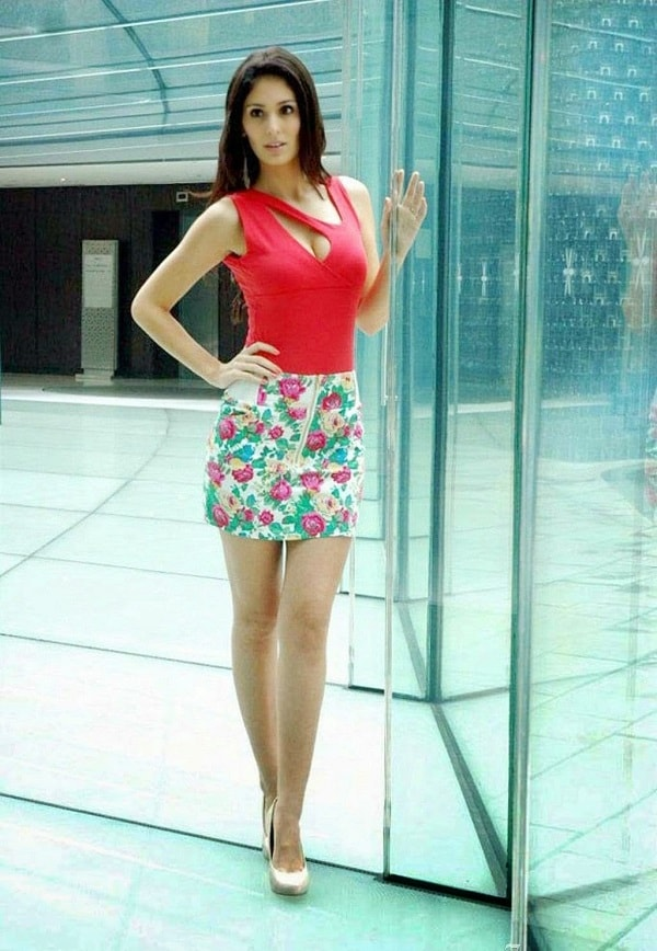 Bruna Abdullah in Floral Skirt