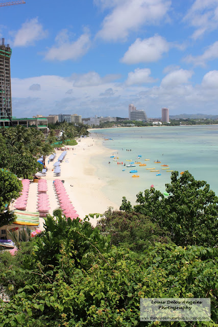 A extended view of Tumon Beach from Reef Hotel