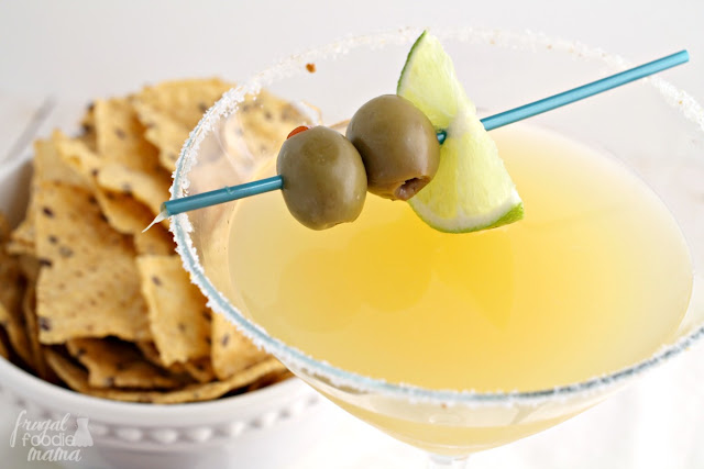 The Mexican Martini is a kicked up version of your traditional margarita with a little extra booze & the perfect balance of sweet & salty.
