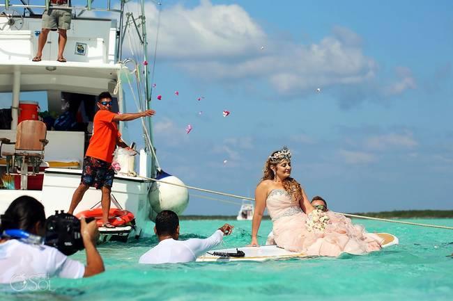 incrivel casamento realizado no mar no caribe 17 - Um casamento no meio do mar. Diferente de tudo que você já viu.