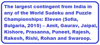 Team India names for World Sudoku and Puzzle Championship 2015
