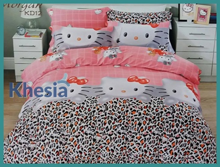 harga bed cover hello kitty