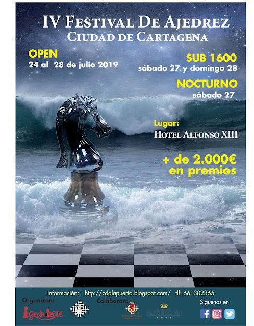 IV Festival de Ajedrez Ciudad de Cartagena <br />(24-28 Julio 2019)