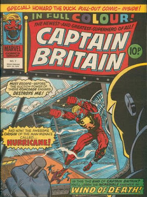 Marvel UK, Captain Britain #7, the Hurricane
