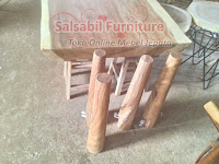 Meja Trembesi Custom Kaki 4 Minimalis - 085875166325 - SalsabilFurniture.com