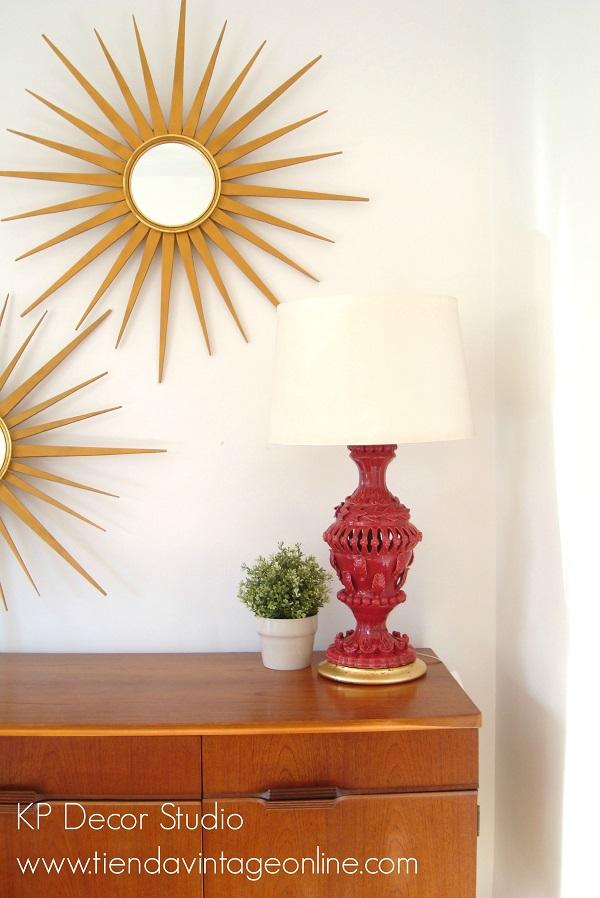 Lámparas de mesa de cerámica de manises