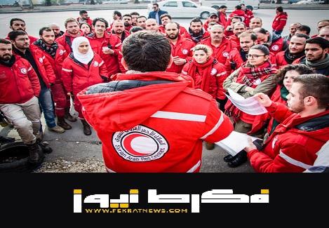 الهلال الأحمر السوري يقدم مساعدات الإغاثة لأهالي دير الزور