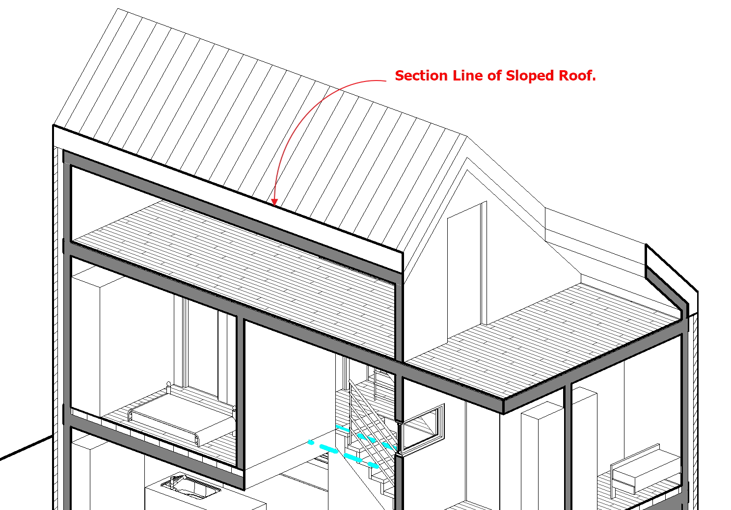 revit how to draw ground line section