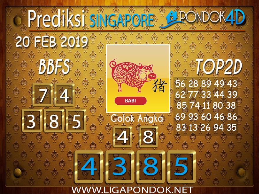 Prediksi Togel SINGAPORE PONDOK4D 20 FEBRUARI 2019