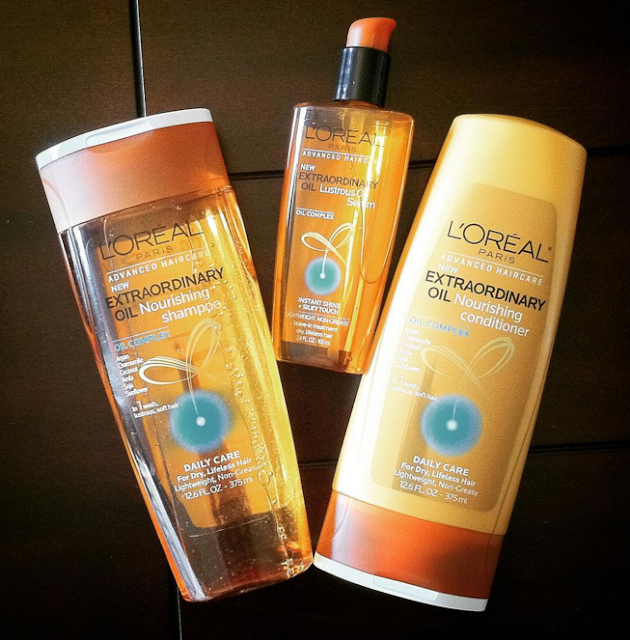 L'Oreal Paris Advanced Haircare Extraordinary Oil Shampoo, Conditioner, and Lustrous Serum review